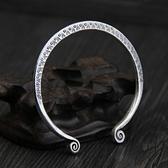 純銀手環(泰銀)-復古開口生日情人節禮物女手鐲73gg99【時尚巴黎】
