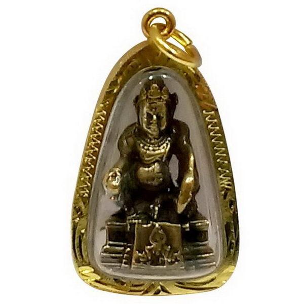 【十相自在】4公分 小佛像/法像 佛龕掛墜吊飾-古銅色(黃財神)
