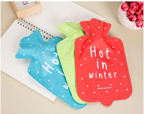 Twin迷你【Hot in winter】熱水袋暖水袋暖手寶冰水袋18*11cm【家庭必備】顏色隨機出貨