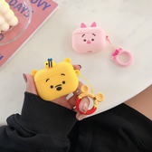 🍎 Airpods Pro 專用 1/2代 🇹🇼台灣發貨 [ 維尼熊+皮傑豬 ] 藍芽耳機保護套 蘋果無線耳機保護
