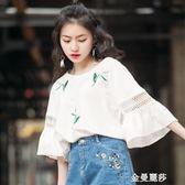短袖t恤女2018新款潮中袖學生寬鬆韓版ulzzang百搭女裝上衣服 金曼麗莎
