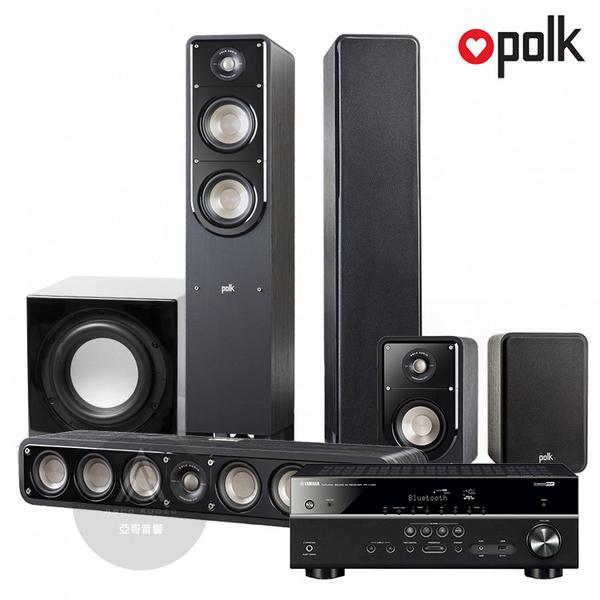 PolkAudio S系列家庭劇院組(S50/S35/S15) + RX-V385 5.1聲道擴大機 + FIN S1重低音