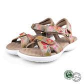 【Panama Jack】熱帶印花運動女涼鞋 淺棕 (PSW49-BR)