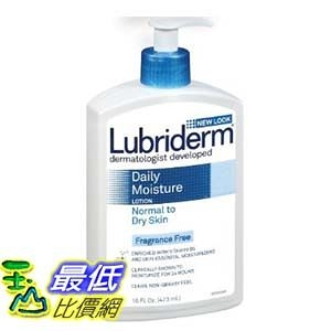 [103美國直購 ShopUSA] 保濕乳液 Lubriderm Daily Moisture Lotion for Normal to Dry Skin ,  24oz (709ml)
