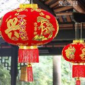 大紅植絨燈籠新春新年春節戶外裝飾品防水過年紅燈籠喜慶掛飾掛件YYJ 青山市集