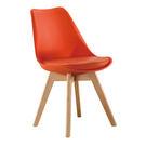 【森可家居】迪古橘色餐椅 7ZX883-8 實木 北歐風