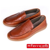 【ferricelli】Outback潮流莫卡辛男仕休閒樂福鞋  棕色(F51428-BR)