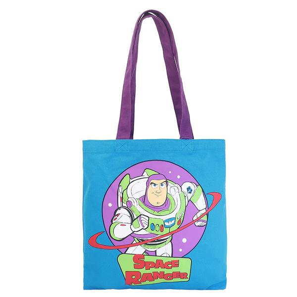 Small Planet 可肩背繽紛托特包 帆布包 迪士尼 玩具總動員 巴斯光年_DP71908