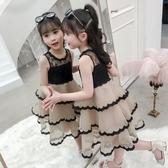 女童夏裝新款洋氣小仙女連衣裙蓬蓬紗蛋糕裙7歲女孩公主裙潮 晴天時尚