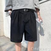 西裝短褲 夏季短褲男直筒潮寬鬆休閒5分西褲ins港風韓版潮流百搭外穿五分褲 爾碩