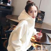 2018春秋新款加絨連帽衛衣女韓版潮學生寬鬆薄款長袖外套加厚冬季  嬌糖小屋