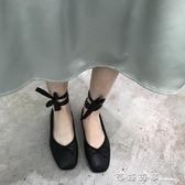 仙女的鞋子女2019新款秋淺口平底綁帶豆豆單鞋女網紅韓版百搭 西城故事