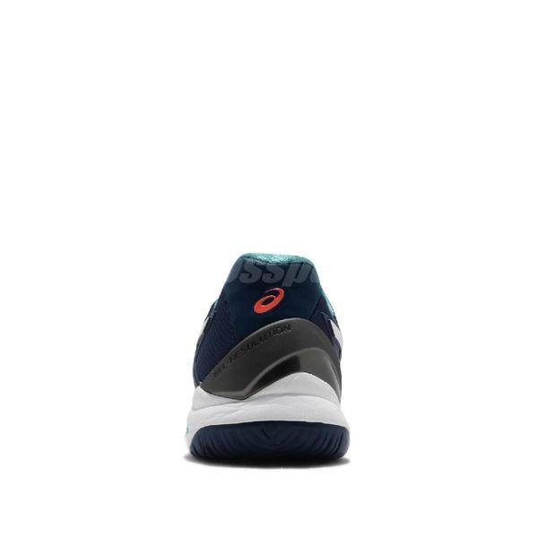 Asics 網球鞋 Gel-Resolution 8 藍 白 男鞋 專業款式 運動鞋 【ACS】 1041A079401