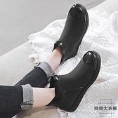 雨鞋女時尚款外穿短筒低幫膠鞋夏季成人雨靴【時尚大衣櫥】