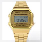 CASIO卡西歐 復古金色電子手錶 柒彩年代【NEC16】
