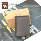 CAMEL卡梅爾駱駝真皮夾牛皮包卡片夾男夾-名片夾12208-2咖啡(特價款)