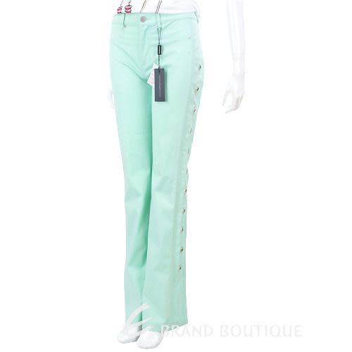 roccobarocco 淺綠色水鑽鑲環鏤空設計長褲  0620938-08