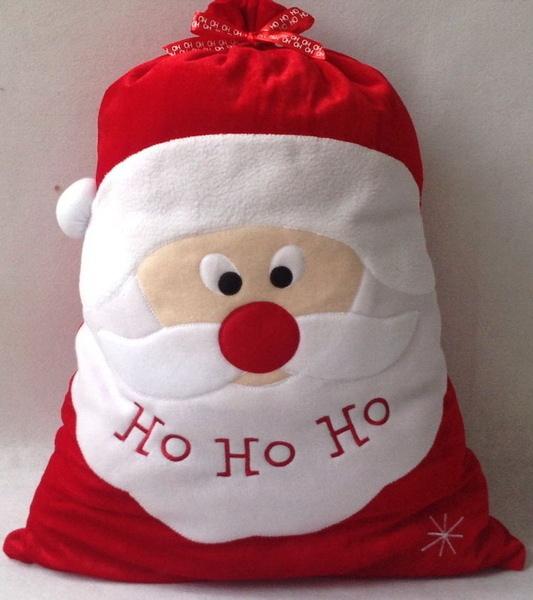 聖誕禮物袋 小朋友聖誕老人禮品袋 聖誕裝飾品 52x71CM大  (二入)