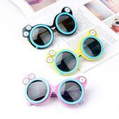 兒童墨鏡 卡通太陽鏡男童女童眼鏡遮陽偏光硅膠可愛潮墨鏡-優樂居生活館