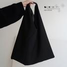 【QP284】魔衣子-暗黑慵懶風單肩帆布...