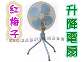 【AP510】紅梅子 18吋工業立扇(免運) 升降電扇 工業扇 立扇 三腳扇★EZGO商城★