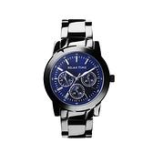 【Relax Time】三眼系列個性時尚腕錶-藍黑款(小)/R0800-16-07/台灣總代理公司貨享一年保固