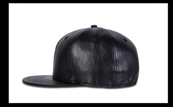 FIND 韓國品牌棒球帽 男 街頭潮流 純黑色皮革款 歐美風 嘻哈帽  街舞帽