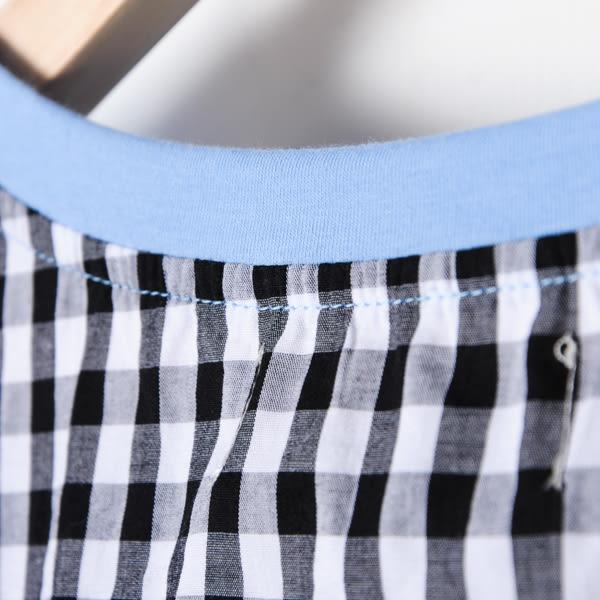 【Dailo】格子拼接視力表圖案上衣-藍 (共三色)  10506
