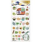 Kamio 日本製金箔押印和紙材質造型貼紙 手帳貼 裝飾貼 日本之最系列 和果子_KM24555