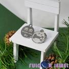 【Fulgor Jewel】富狗名牌 客製化防走失 設計款小骨頭腳印 西德鋼 狗牌 姓名牌 免費鐳射刻字