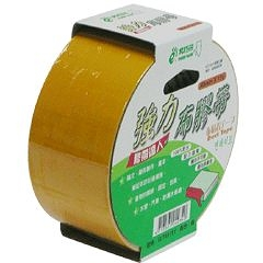 【奇奇文具】北極熊 CLT4815Y黃色布紋膠帶48mm×15yds