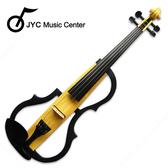 集樂城樂器 JYC SDDS-1605 彩繪琴身高級三段EQ電小提琴(淺色木紋)
