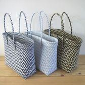 經典實用打包帶菜籃子手工編織菜簍