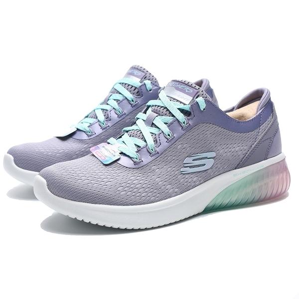 SKECHERS AIR ULTRA 粉紫 網布 紫 綠漸層 冰底 慢跑 運動 女(布魯克林) 13293LAV