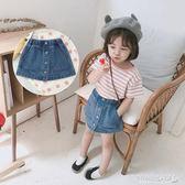 女童半身裙 兒童牛仔短裙韓版女童半身裙a子裙包臀裙 傾城小鋪