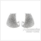apm MONACO COURCHEVEL系列晶鑽鑲飾曲面設計純銀耳環(銀)