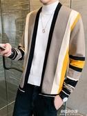 (免運) 男士外套秋季新款針織開衫男外穿針織衫毛衣韓版潮流秋裝上衣