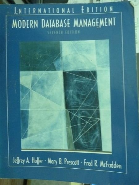 【書寶二手書T9/大學資訊_PNE】Modern Database Management