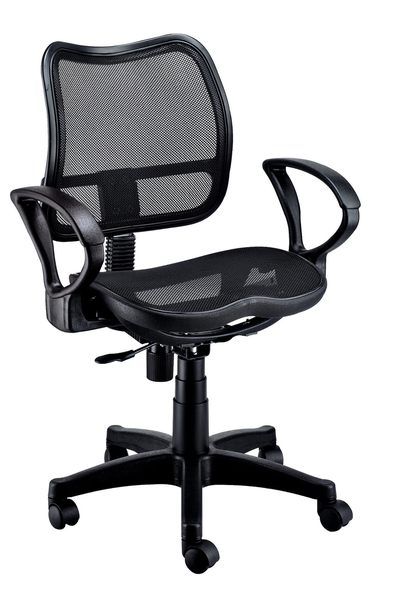 【森可家居】彈性網辦公椅(有扶手) 7JX287-5 電腦椅