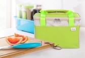 加厚帶飯手提飯盒袋 牛津布防水便當包早餐保溫袋學生午餐包多色小屋