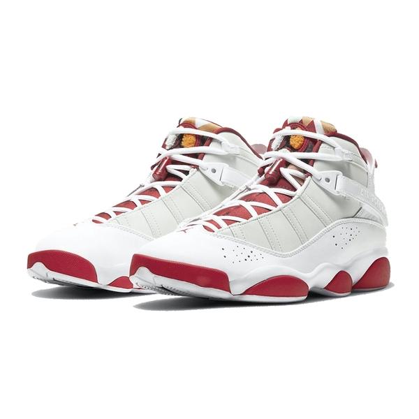 NIKE JORDAN 6 RINGS 男款 復古籃球鞋 休閒鞋 白紅 DD5077105