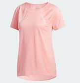 Adidas HEAT.RDY 女款粉色透氣短袖上衣-NO.FK0734