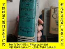 二手書博民逛書店COMMON罕見ERRORS IN ENGLISH AND HO