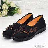 老人布鞋女老北京布鞋春秋單鞋休閒媽媽鞋平跟防滑舒適軟底奶奶鞋 可可鞋櫃