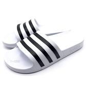 《7+1童鞋》ADIDAS ADILETTE AQUA 超輕量防水運動拖鞋  7372  白色