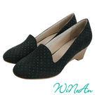 WNA-11100淺口船型跟鞋--典雅黑...