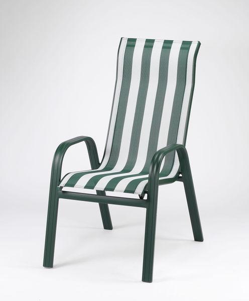 【南洋風休閒傢俱】餐椅系列 - 鋁合金高背紗網椅 戶外休閒餐椅  (HC002)