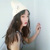 針織毛線帽-韓版潮流學院風保暖女毛帽6色73ie4【時尚巴黎】