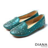 DIANA 星光點點--水鑽晶燦耀眼時尚平底鞋-藍★零碼出清只供退貨恕無法換貨★