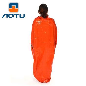 [UF72戶外露營]瑞士奧途系列 應急睡袋 急救睡袋 戶外救生毯 求生毯 保溫毯 保暖布PE材AT9040(2入組)